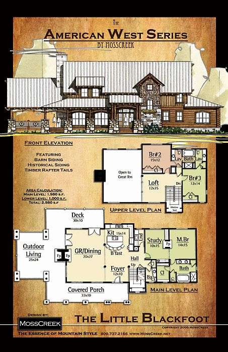 Mosscreek designers of luxury timber frame hybrid and for Custom home floor plans with basement