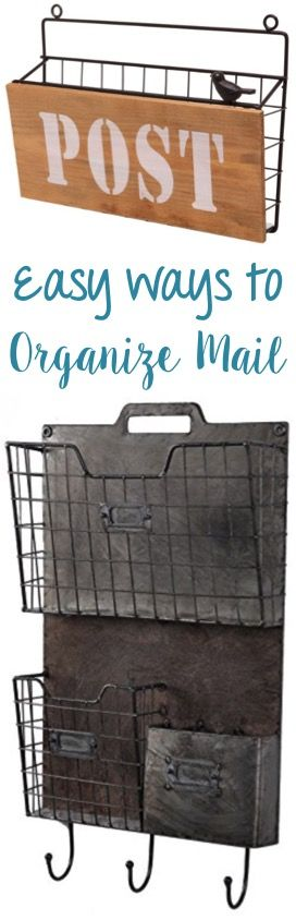 Easy Ways to Organize your Mail and keep paper clutter under control + tips for organizing every room of your home! - at TheFrugalGirls.com