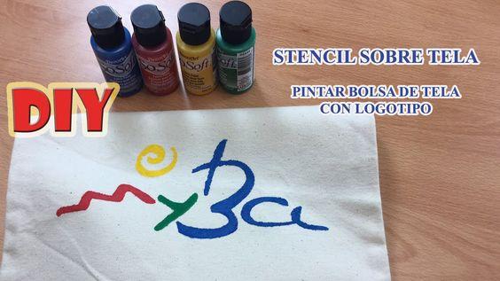 C mo pintar bolsa de tela stencil sobre tela con - Como pintar sobre tela ...