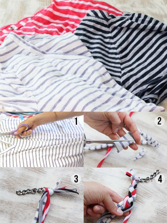 diy jewelry | Second Life for Striped Shirts. And other great craft ideas!