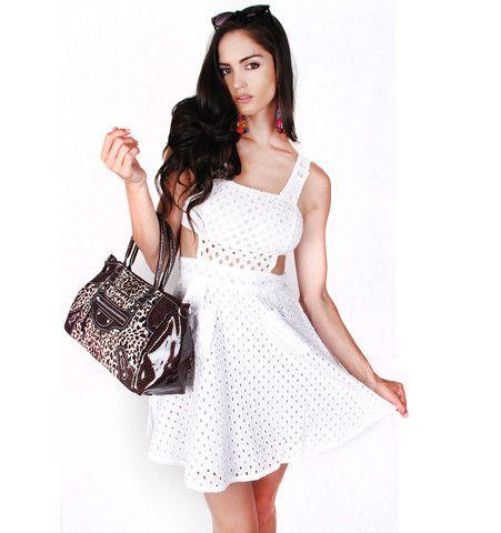 Side Cutout Cotton Dress | Patricia Field