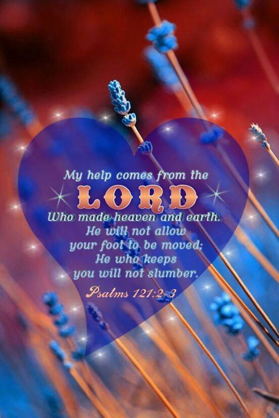 Psalm 121:2-3 help comes from the lord