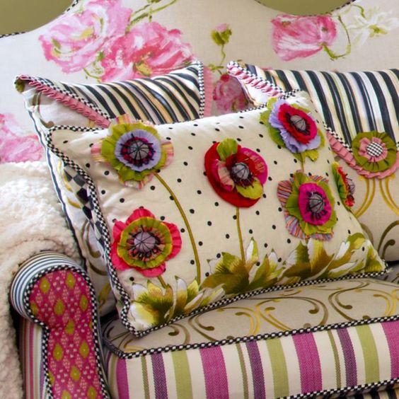 MacKenzie-Childs - Cutting Garden Lumbar Pillow