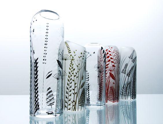 Handmade floral glassware | The 'Carex' collection by Cave Canem Studio: Carex Collection, The Collection, Canem Studio, Handmade Small, Handmade Floral, Floral Glassware, Articles Studio, Studio Cave, Cave Canem