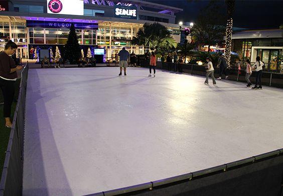 The Orlando Eye Frostival Ice Skating