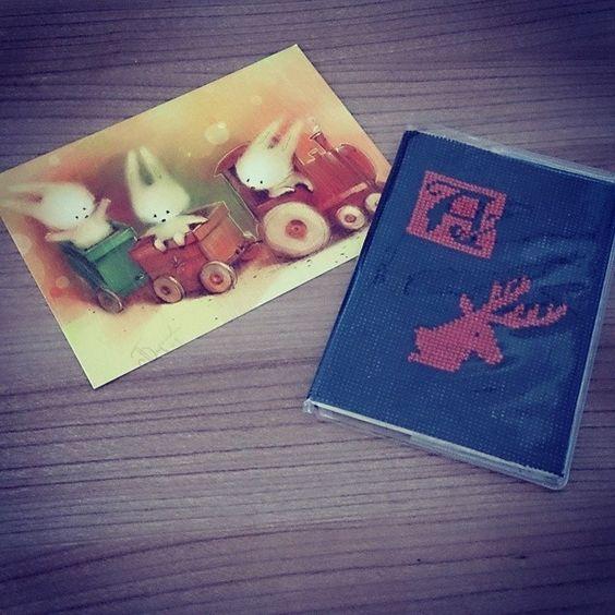 "Обложка на паспорт ""А is for алень"""