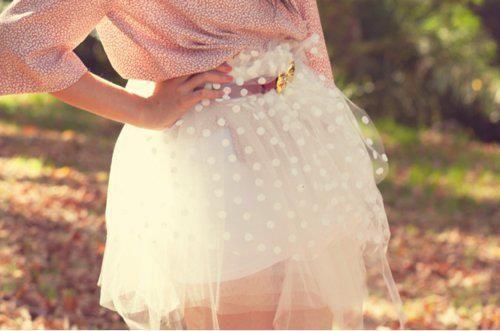 polka ballerina skirt! :O
