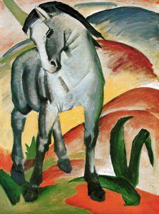 Blaues Pferd 1 by Franz Marc, Horse Art