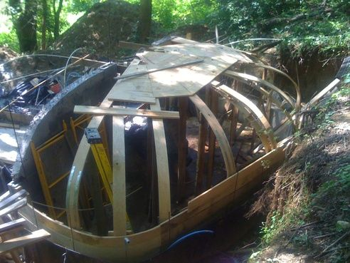 Underground hobbit house plans