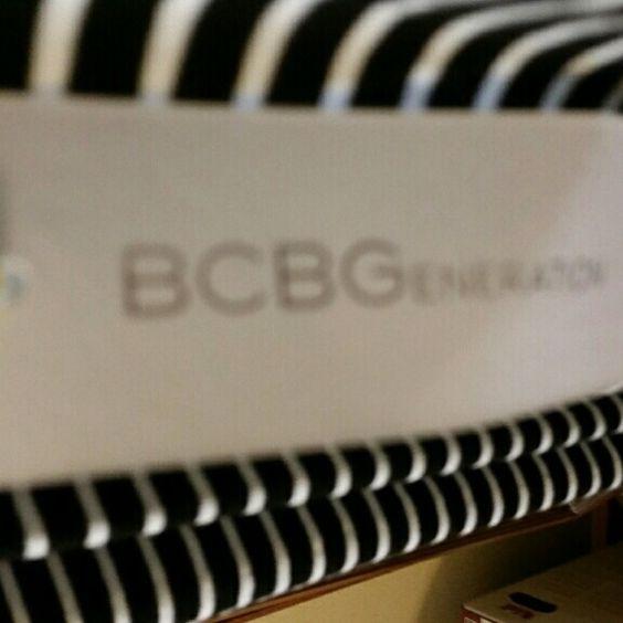BCBG dress Striped, size large, never worn BCBGeneration Dresses Midi