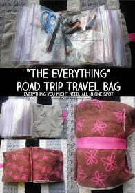 While He Was Napping: {Kids on the Road} The Everything Pouch