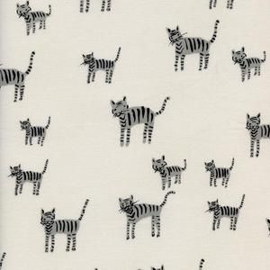 Cotton and Steel House Designer - Cotton and Steel Black and White - Tiger Stripes in Black and White