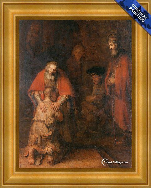 The Return Of The Prodigal Son C 1669 Painting By Rembrandt Reproduction 1st Art Gallery In 2020 Rembrandt Rembrandt Van Rijn Rembrandt Paintings