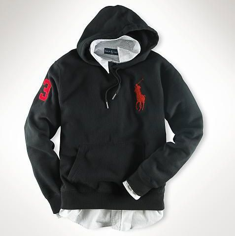 Ralph Lauren Darkgreen Red Big Pony Men Sweatshirt