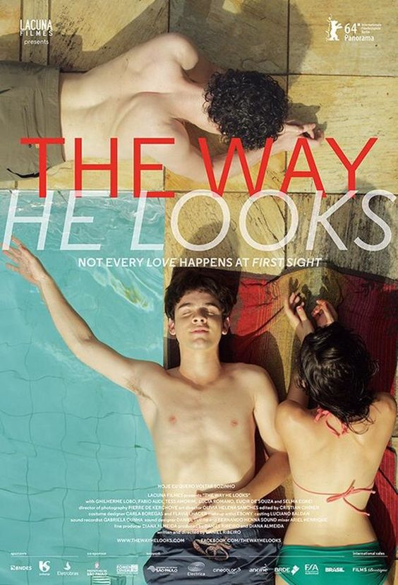 The Way He Looks (Hoje Eu Quero Voltar Sozinho) movie poster 2014. A blind high school student falls for his new classmate.