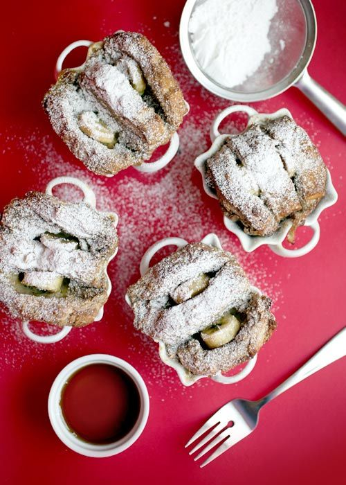 bakerella - baked banana french toast.