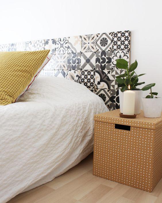 Détournés, ils se transforment en tête de lit atypique et incroyablement  décorative. Pour contrer le froid des carreaux, il suffit de multiplier ... 162e9f98eefb
