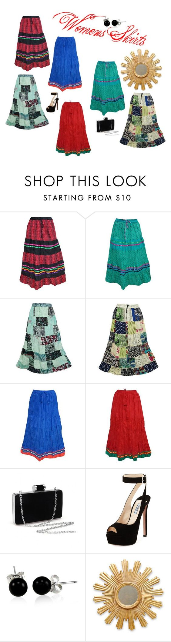 """""""Womens Maxi Skirts  (By Indiatrendzs)"""" by lavanyas-trendzs ❤ liked on Polyvore featuring Prada, Bling Jewelry, gift and skirts"""