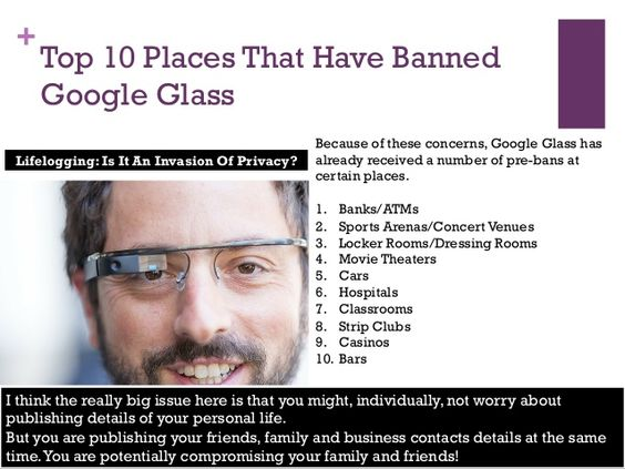 Top 10 Places Google Glass is Banned