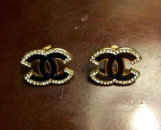 My coco Chanel black diamond studs