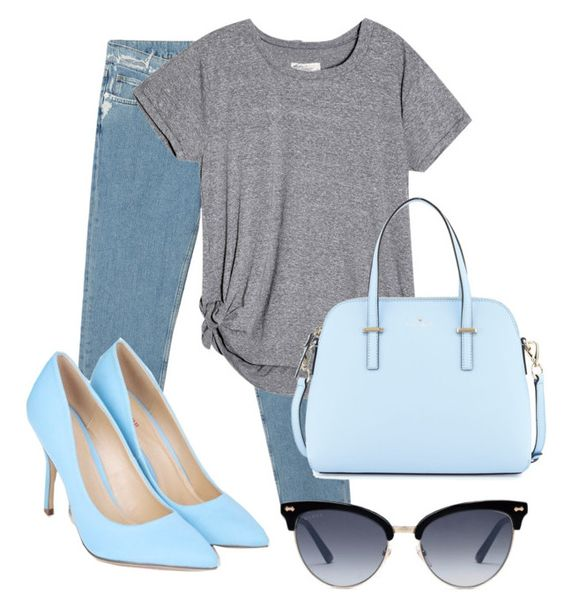 """""""Untitled #82"""" by tyulparini ❤ liked on Polyvore featuring Acne Studios, JustFab, Kate Spade and Gucci"""