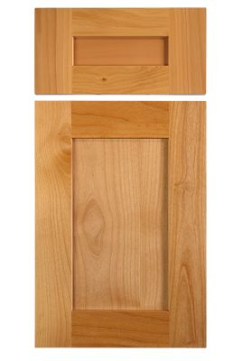 Shaker style cabinet door in select alder with 3 1 8 wide for Door rails and stiles