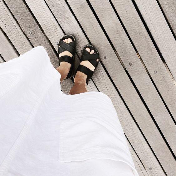 Grandma's dress & sandy legs