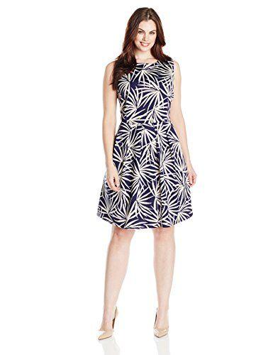 Taylor Dresses Women's Plus-Size Palm Print Fit and Flare Scuba Dress, Navy Pearl, 16W Taylor Dresses http://www.amazon.com/dp/B00PU1BNTG/ref=cm_sw_r_pi_dp_cC16ub0GSXJY7