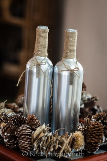 Wine bottle crafts.: