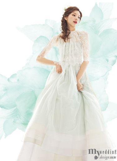 Hanbok inspired wedding dress traditional korean for Hanbok wedding dress