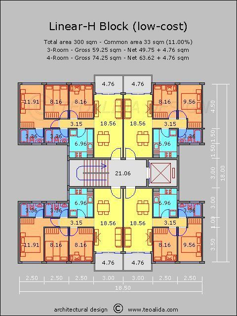 Apartment Plans 30 200 Sqm Designed By Teoalida Teoalida Website 30200 Residential Architecture Plan Apartment Plans Residential Architecture Apartment