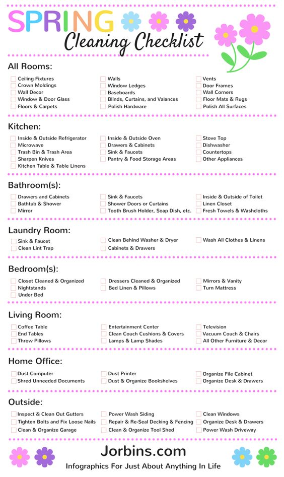 73 Item Checklist A Thorough Spring Cleaning For Your Home - spring cleaning checklist