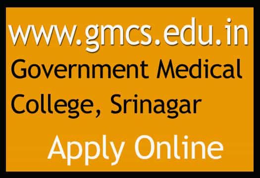 Gmc Srinagar Recruitment 2018 Advt 110 Jobs Class Iv Online Form Srinagar Recruitment Medical College