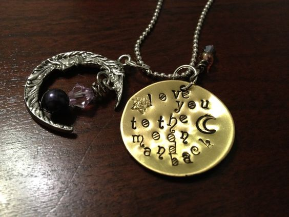 'Love you to the moon and back Necklace' is going up for auction at  9am Wed, Sep 19 with a starting bid of $10.