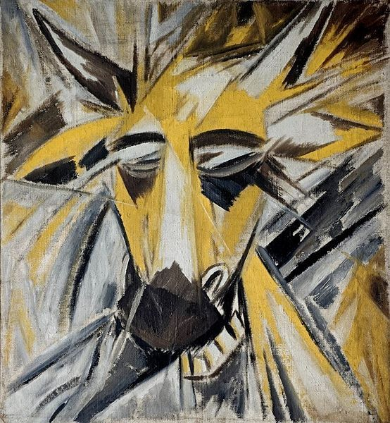 Bull's Head by Mikhail Larionov, 1913