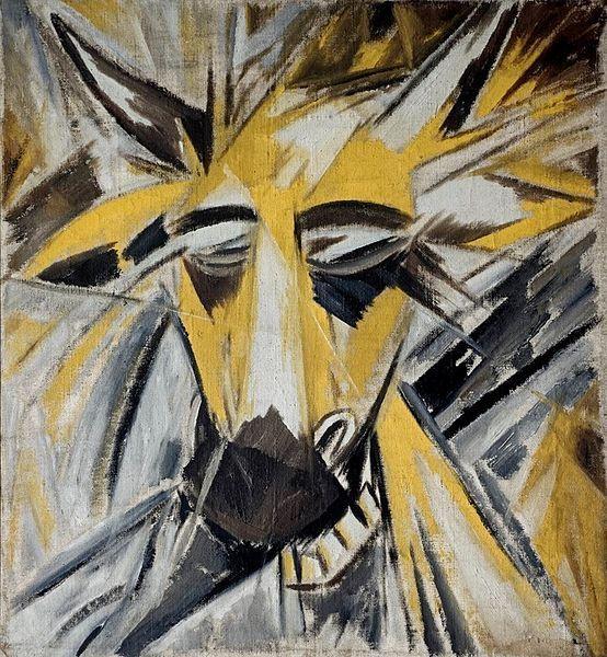 Bull's Head by Mikhail Larionov, 1913