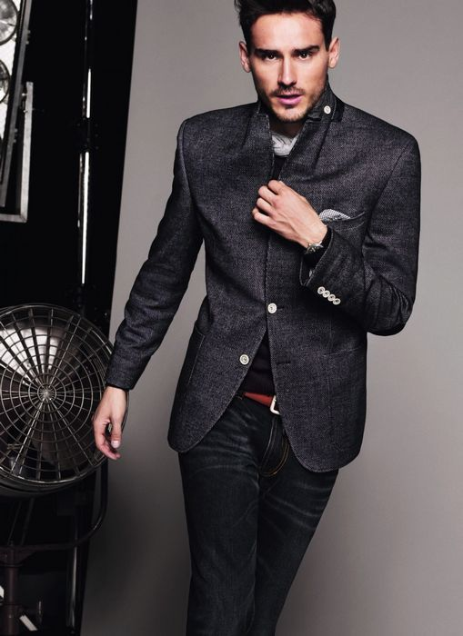 Men's Fashion: Charcoal Suit Jacket & Black Jeans. | Men's Fashion ...