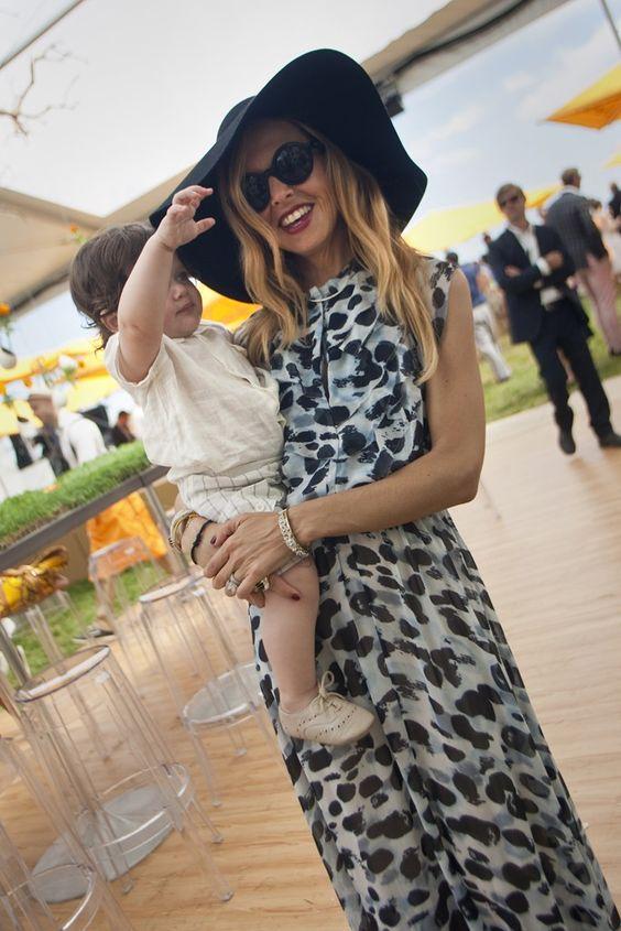 Rachel Zoe and her son, Skyler.