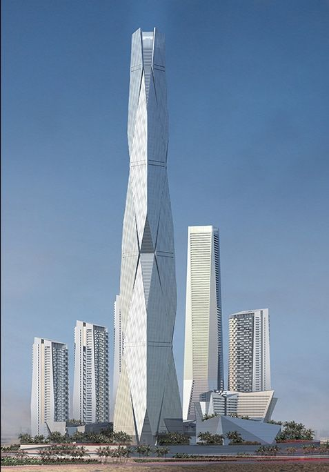A render of Uptown Dubai Tower