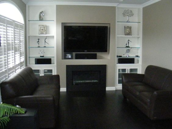flat front with built ins
