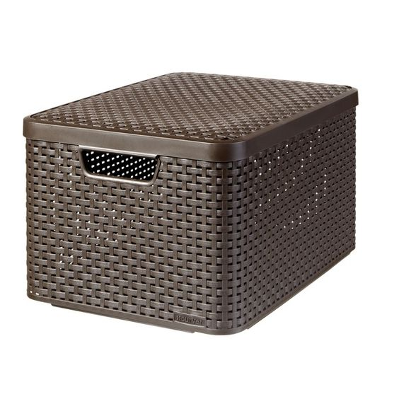 curver style box with lid for the home pinterest. Black Bedroom Furniture Sets. Home Design Ideas