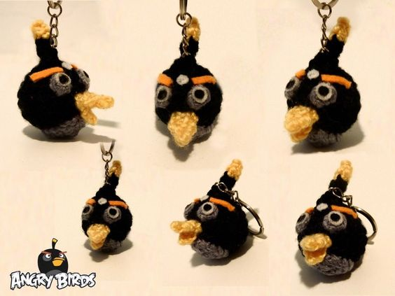 keychains LLAVERO ANGRY BIRDS BOMB
