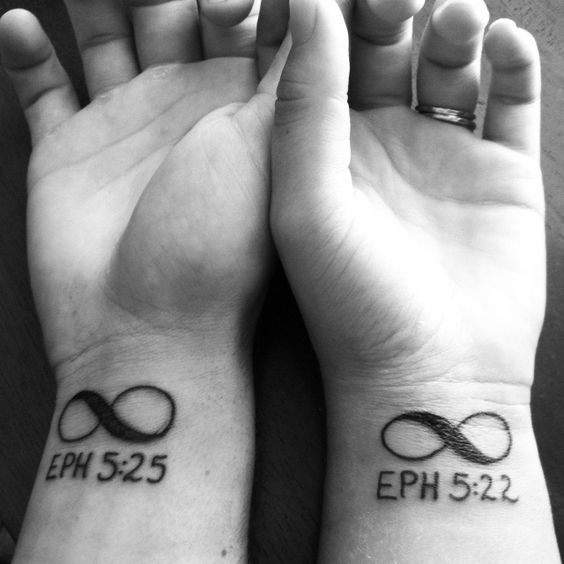 Married couple tattoo. Finally! Found the perfect tattoo for us!: