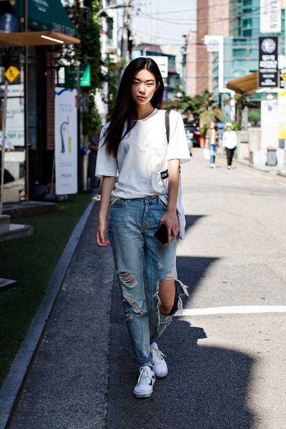 Tshirt Uniqlo Pants Forever21 Shoes Vans Street Style Kim Seunghee Seoul Korean Fashion