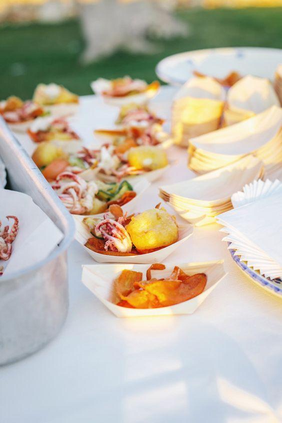 food + drink | a la carte italian reception | via: 100 layer cake
