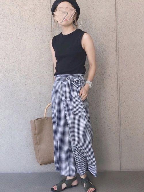 Saya Guのタンクトップを使ったコーディネート Wear ファッションコーデ 着こなしいろいろ ファッションアイデア