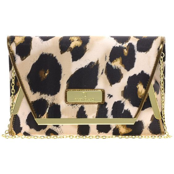 River Island Oversize Leopard Clutch ($43) ❤ liked on Polyvore