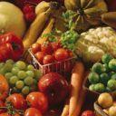 Vegetais, frutas, alimentos em pó