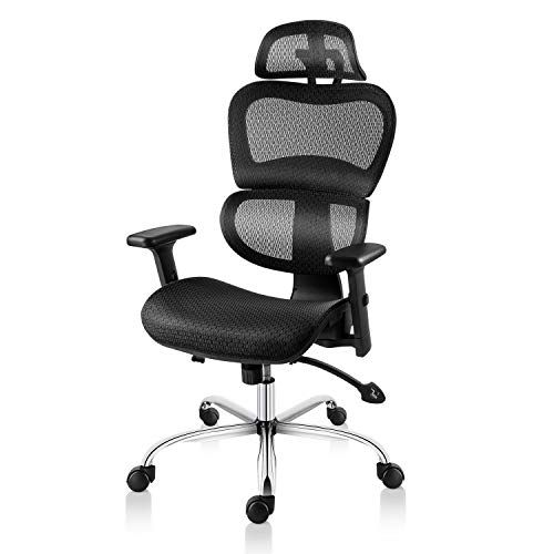 Mdl Furniture Ergonomic Office Chair High Back Mesh Chair Adjustable Headrest And Lumbar Support 3d Armrest Off Adjustable Office Chair Office Chair Mesh Chair