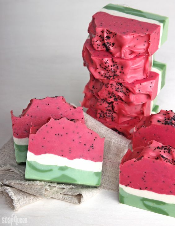 Watermelon is one of my favorite summer fruits. It's refreshing, light and delicious! With watermelon coming into season, I was inspired to create this fruity soap (of course!). The natural green, white and pink layers of watermelon are surprisingly simple to recreate with thick soap batter. This recipe is formulated with mango butter, coconut oil and …